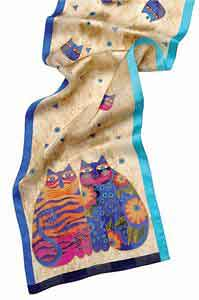 Feline Whimsy  Scarf by Laurel Burch