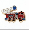 Fire Truck with Ladder Floating Locket Charm