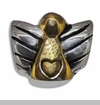 Gold Angel with Silver Wings European Bead Charm
