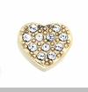 Gold Heart with Crystals Floating Locket Charm