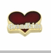 Grandkids Red Heart Floating Locket Charm