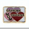 Grandma, Mom and Daughter in Hearts Floating Locket Charm