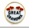 Great Grandma Floating Heart Locket Charm