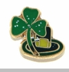 Green Clover and Hat Floating Locket Charm