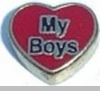 Heart my Boys Floating Heart Locket Charm