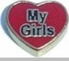 Heart my Girls Floating Heart Locket Charm
