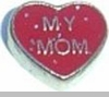 Heart my Mom Floating Heart Locket Charm