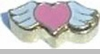 Heart with Wings Floating Heart Locket Charm