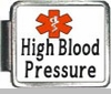 High Blood Pressure Medical Alert Photo Italian Charm