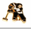 Hockey Player Floating Locket Charm