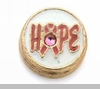 Hope with Pink Ribbon Floating Locket Charm