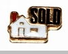House with Sold Sign Floating Locket Charm