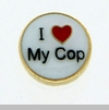 I Heart My Cop Floating Locket Charm
