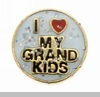 I Heart My Grandkids Floating Heart Locket Charm
