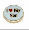 I Heart My Son Floating Locket Charm