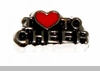 I Heart to Cheer Floating Locket Charm