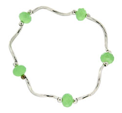 Prism Pals Jade Translucent Color Crystal Stretch Bracelet