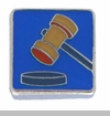 Judge's Gavel Floating Locket Charm