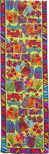 Karly's Cats Silk Scarf by Laurel Burch