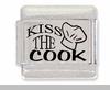 Kiss The Cook Laser Italian Charm