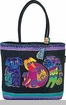 Laurel Burch Dogs & Doggies Shoulder Tote