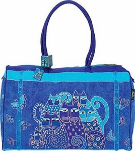 Laurel Burch Indigo Cats Travel Tote