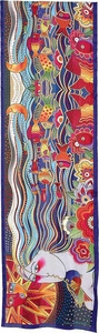 Legend Of Mikayla Silk Scarf with Sequins by Laurel Burch