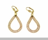 Lily Helena Glistening Ice Crystal Mesh Earrings, Goldtone, Clear