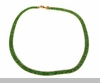 Lily Helena Glistening Ice Crystal Mesh Flat Necklace, Goldtone, Green