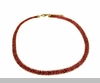 Lily Helena Glistening Ice Crystal Mesh Flat Necklace, Goldtone, Red