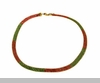 Lily Helena Glistening Ice Crystal Mesh Flat Necklace, Goldtone, Red & Green