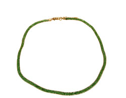 Lily Helena Glistening Ice Crystal Mesh Small Round Necklace, Goldtone, Green