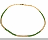 Lily Helena Glistening Ice Crystal Mesh Small Round Necklace, Goldtone, Green & Clear