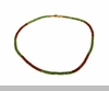 Lily Helena Glistening Ice Crystal Mesh Small Round Necklace, Goldtone, Red & Green