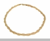 Lily Helena Glistening Ice Crystal Mesh Twist Necklace, Goldtone, Clear