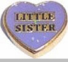 Little Sister Floating Heart Locket Charm