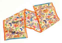 Mariposas Ivory Scarf by Laurel Burch