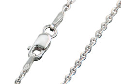 Matthew Gerard Italian Rolo Chain Link Sterling Silver Necklace