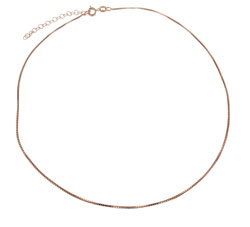 Matthew Gerard Italian Rose Gold Vermeil Box Chain Necklace