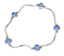 Prism Pals Medium Blue Color Crystal Stretch Bracelet
