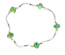 Prism Pals Medium Green AB Color Crystal Stretch Bracelet