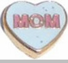Mom in Heart Floating Heart Locket Charm