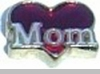 Mom with Heart Heart Locket Charm