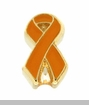 Orange Ribbon Floating Locket Charm
