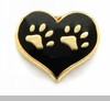 Paw Prints in Heart Floating Locket Charm