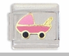 Pink Baby Carriage Italian Charm