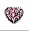 Pink Crystal Heart Floating Locket Charm