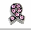 Pink Crystal Ribbon Floating Locket Charm