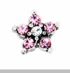 Pink Crystal Star Floating Locket Charm
