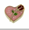 Pink Heart with Red Rose Floating Locket Charm